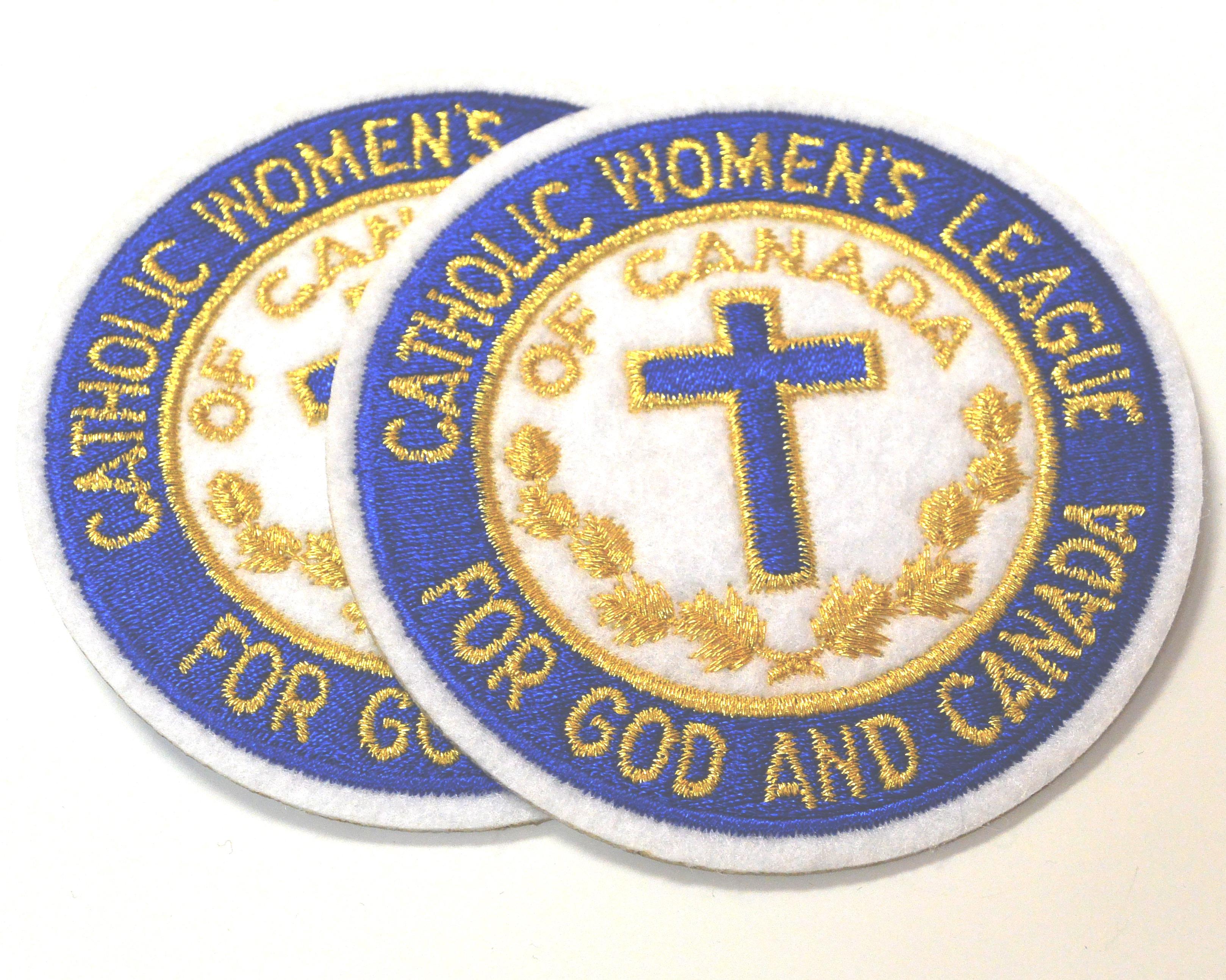 Image of felt Catholic Women's League Crest